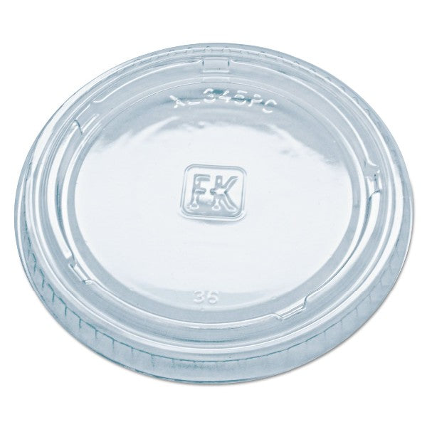 Fabri-Kal Clear Portion Cup Lid - 2500 per Case