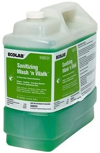 Ecolab Sanitizing Wash 'n Walk, 1 each 2.5 Gallon Jug per Case