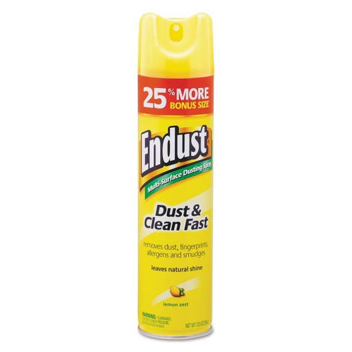 Endust Lemon Zest Dust n Clean Aerosol Can, 12.5 Ounce Can - 6 Cans per Case