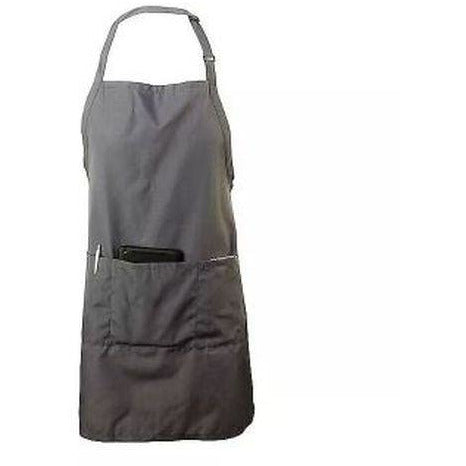 Chef Revival 601BAO-3-GR 3-Pocket Bib Apron, Gray