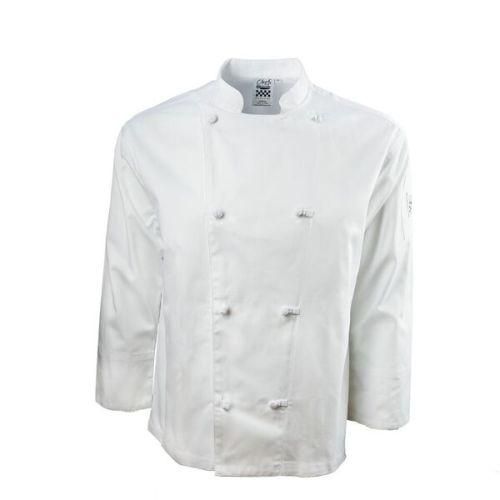 Chef Revival J003-2X Knife & Steel Jacket, White