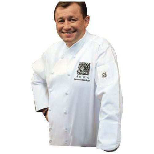 Chef Revival J007 White Corporate Jacket with White Piping - Luxury Cotton