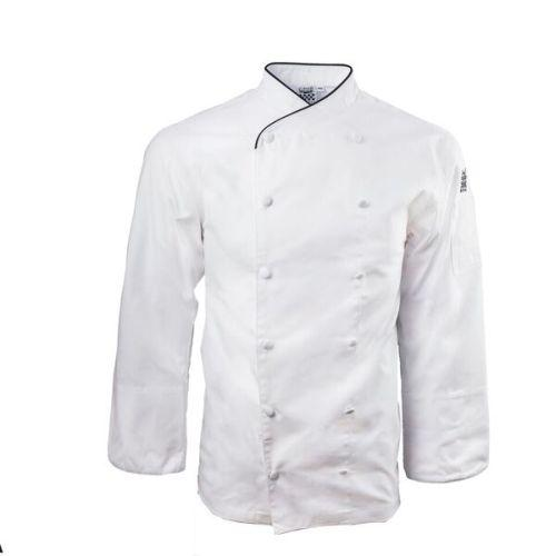 Chef Revival J008GN White Corporate Jacket w/Green Piping