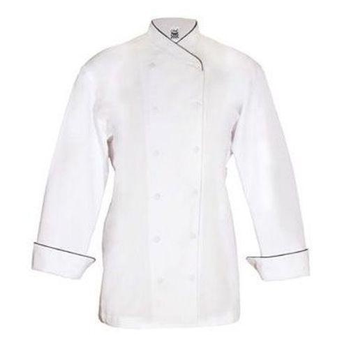 Chef Revival LJ008GN Ladies Corporate Jacket, White w/ Green Collar Piping