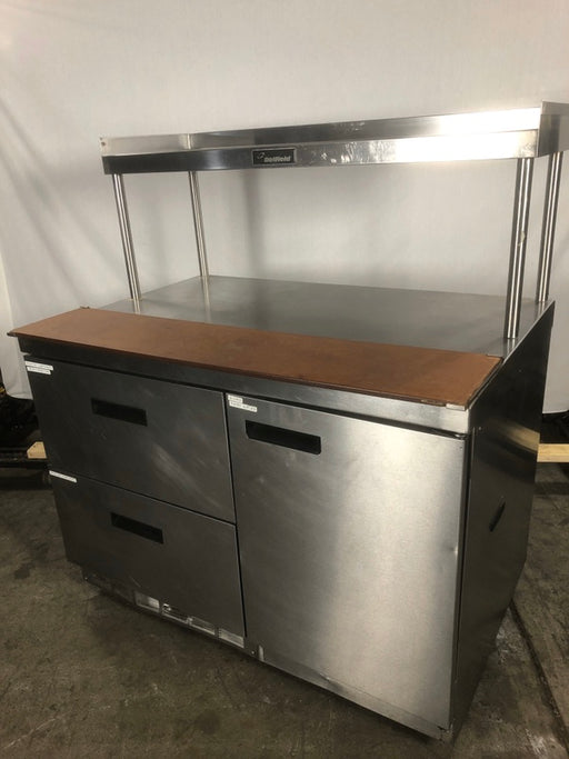 Delfield 000-201SDH73 Refrigerated Work Station With Dry Storage Side Cabinet, Refrigerated Prep Table