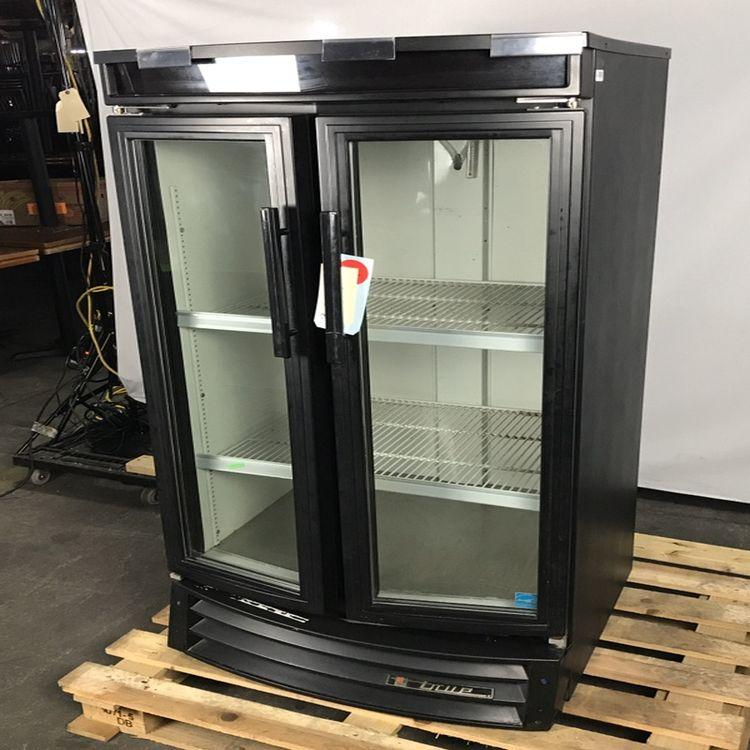 True GDM-14RF Refrigerated Glass Swing Door Merchandiser, 2/3 Height