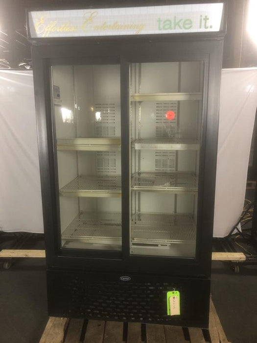 Carrier MC1100 Refrigerated Glass Slide Door Merchandiser