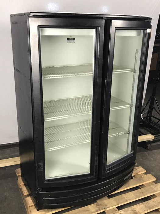 Beverage Air MM14 Refrigerated Glass Swing Door Merchandiser, 2/3 Height
