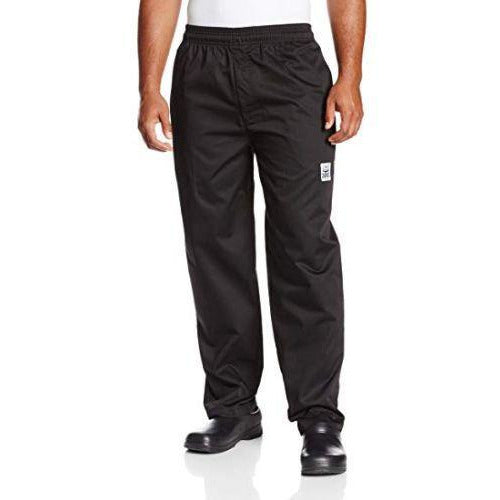 Chef Revival P002BK-5X Easy Fit Pants, Black