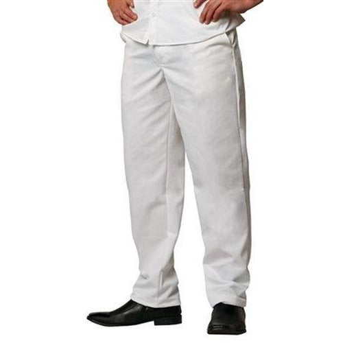 Chef Revival P201CPZ Cook Pants, White