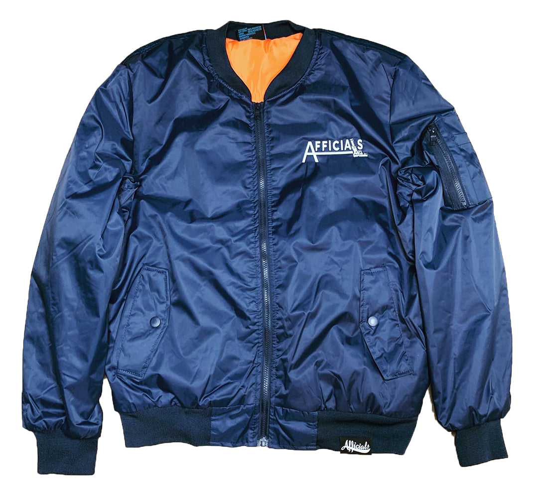 "Afficials ""40"" Bomber Jacket NAVY/WHITE"