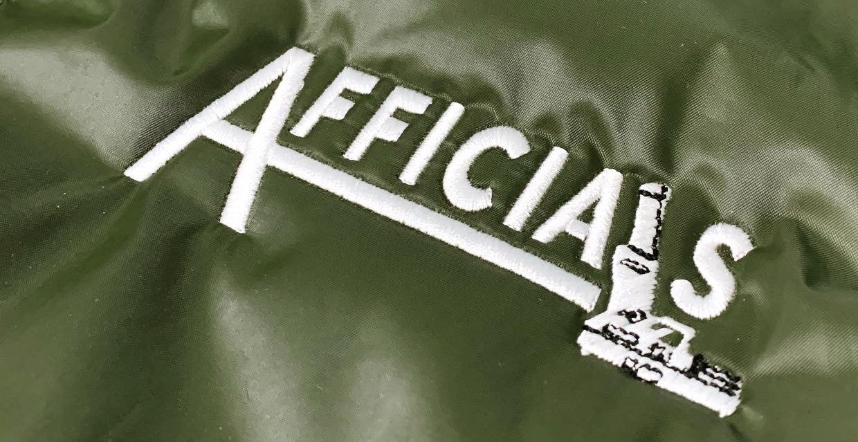"Afficials ""40"" Bomber Jacket OLIVE GREEN/WHITE"