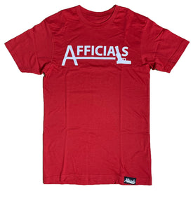 "Afficials ""40"" Tee RED/WHITE"