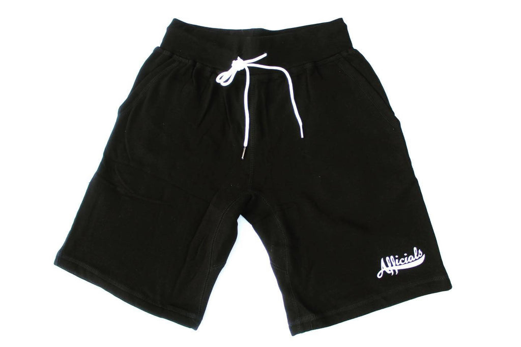 Afficials Signature Sweat Shorts BLACK/WHITE