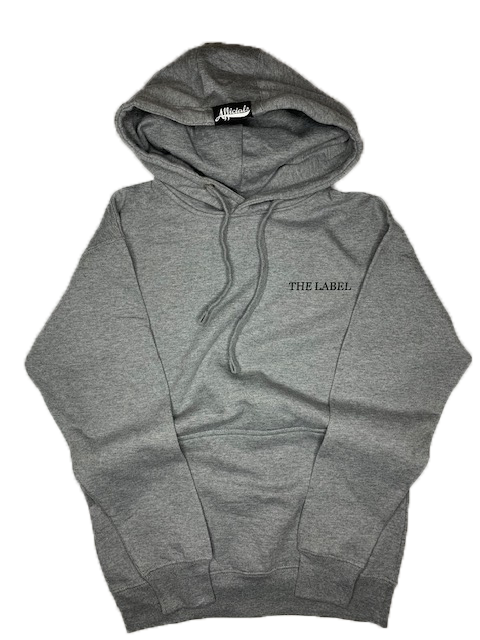 Afficials Hoodie GRAY/BLACK [Distressed Print]