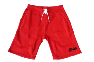 Afficials Signature Sweat Shorts RED/BLACK