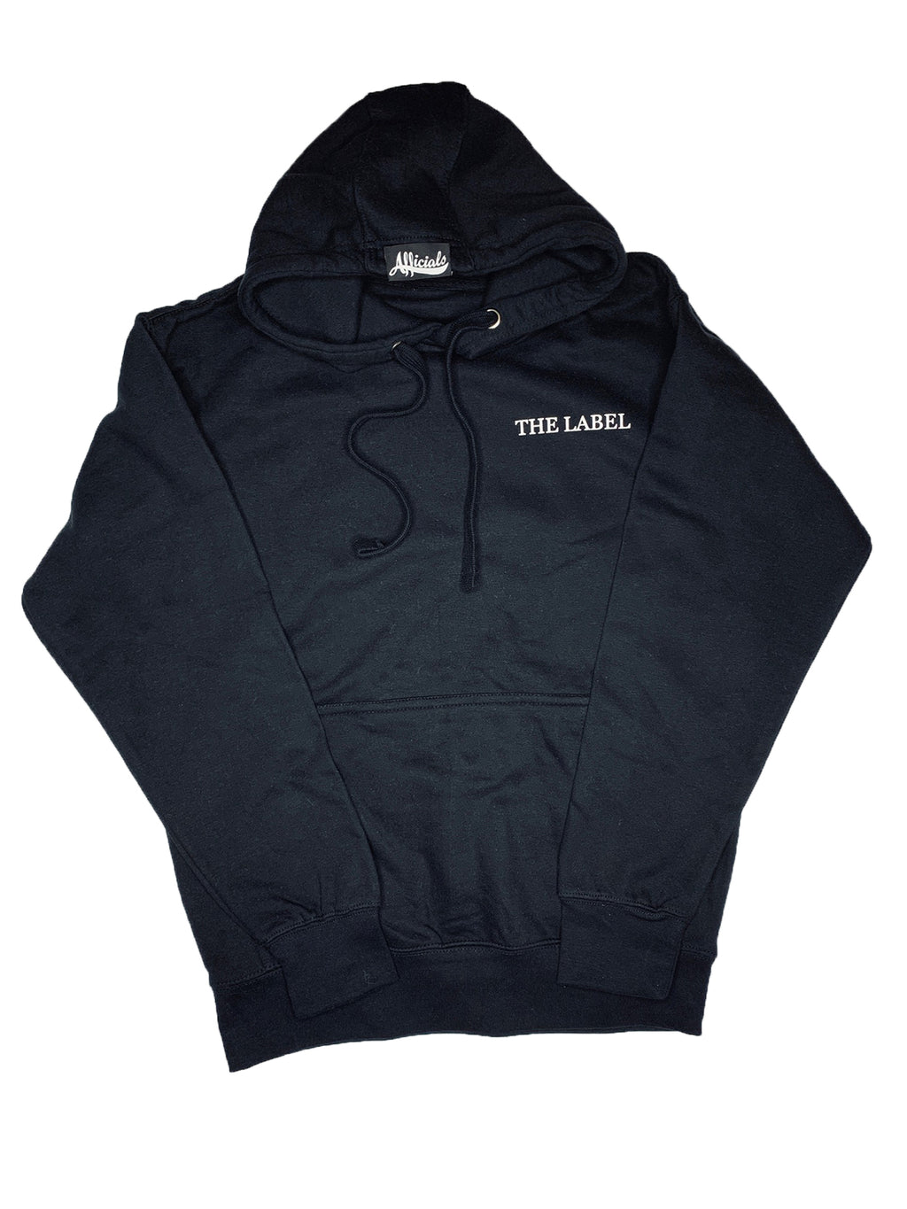 Afficials Hoodie BLACK/WHITE [Distressed Print]
