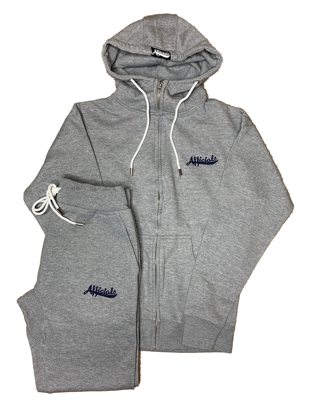 Afficials Sweatsuit Set GRAY/NAVY [Embroidered]