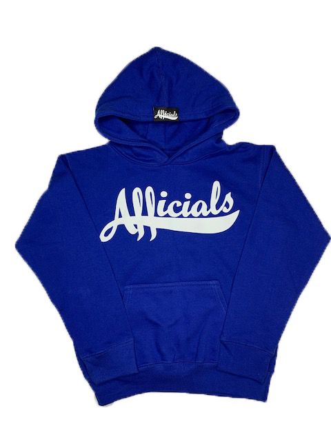 Afficials Signature Kid's Hoodie ROYAL BLUE/WHITE
