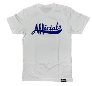 Afficials Signature Tee WHITE/ROYAL BLUE