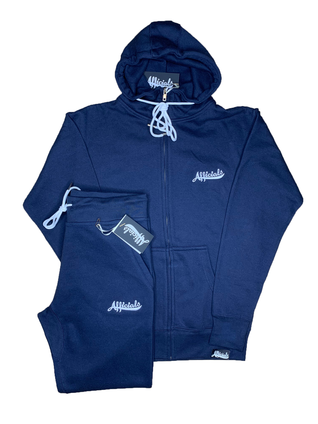 Afficials Sweatsuit Set NAVY/WHITE [Embroidered]
