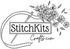 StitchKits Crafts - Inspirational Embroidery Hoops, Beautiful Ribbons and Modern Cross Stitch