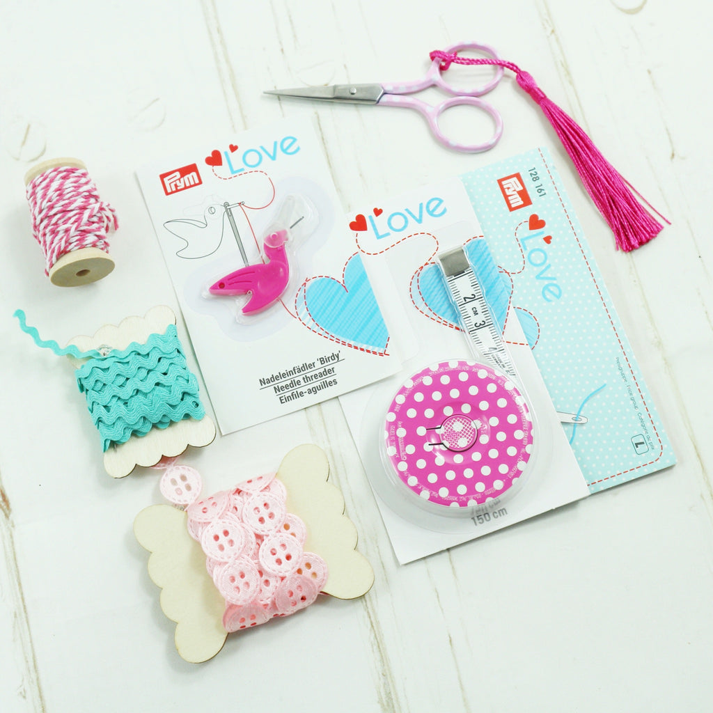 Christmas Gift ideas. Sewing Notions and Trimmings. Pink and Turquoise gift set