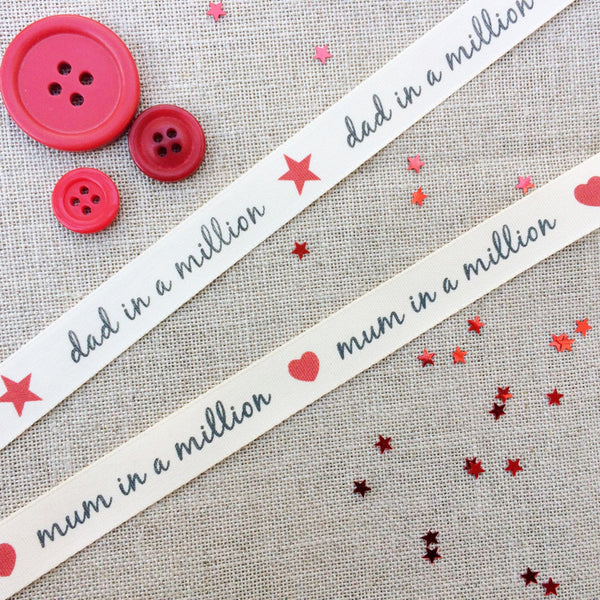 Mum and Dad in a million Ribbon - StitchKits Crafts