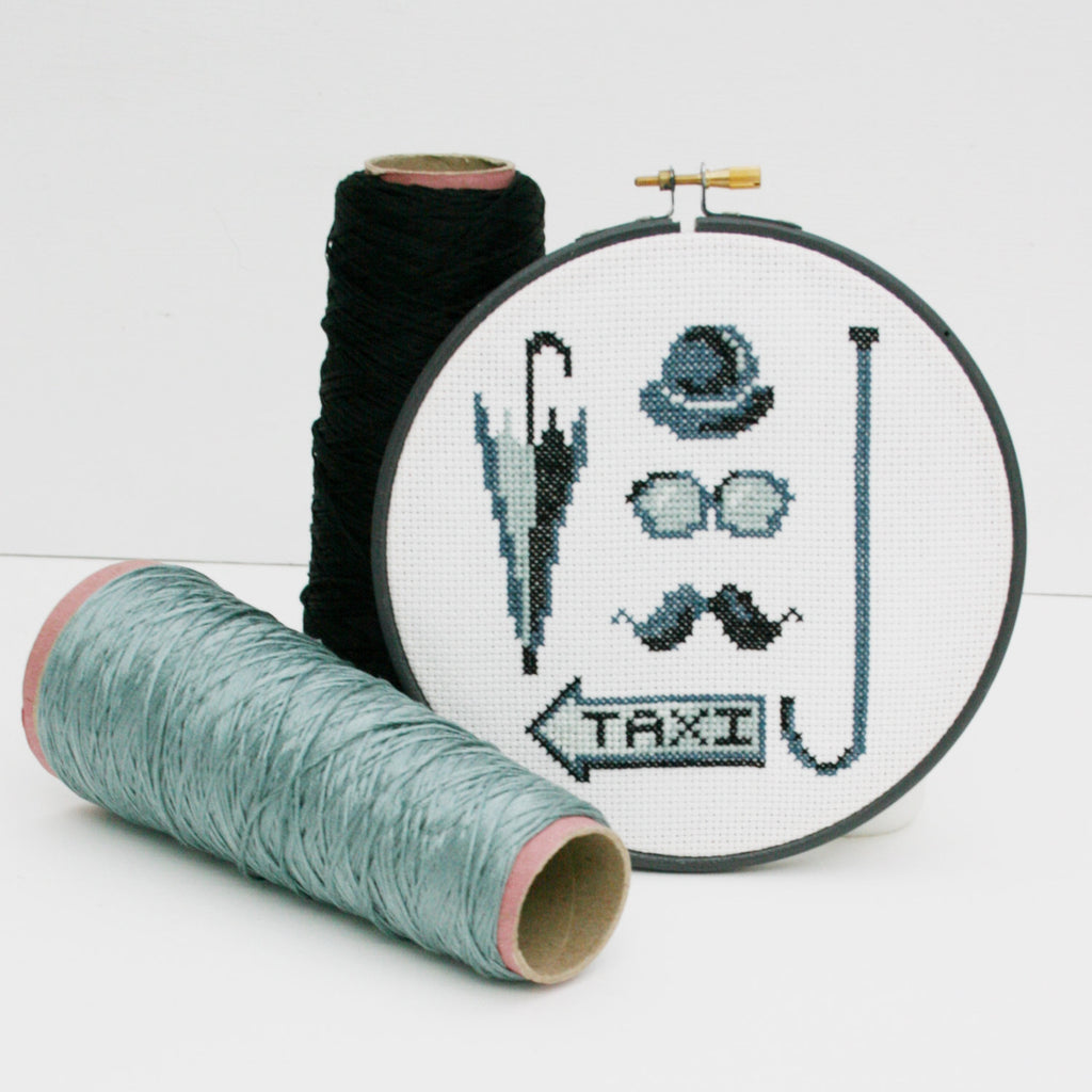 London City Gent, Cross Stitch Kit. DIY Needle Craft kit- By Ruth Caig - StitchKits Crafts