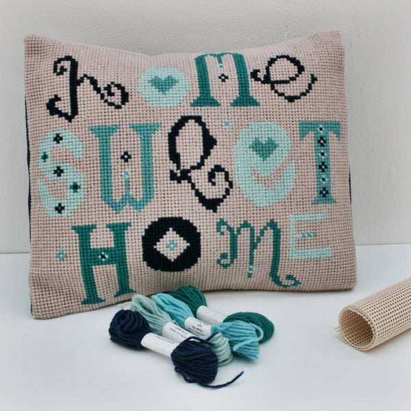 Home Sweet Home,  Wool Cross Stitch Kit. - StitchKits Crafts
