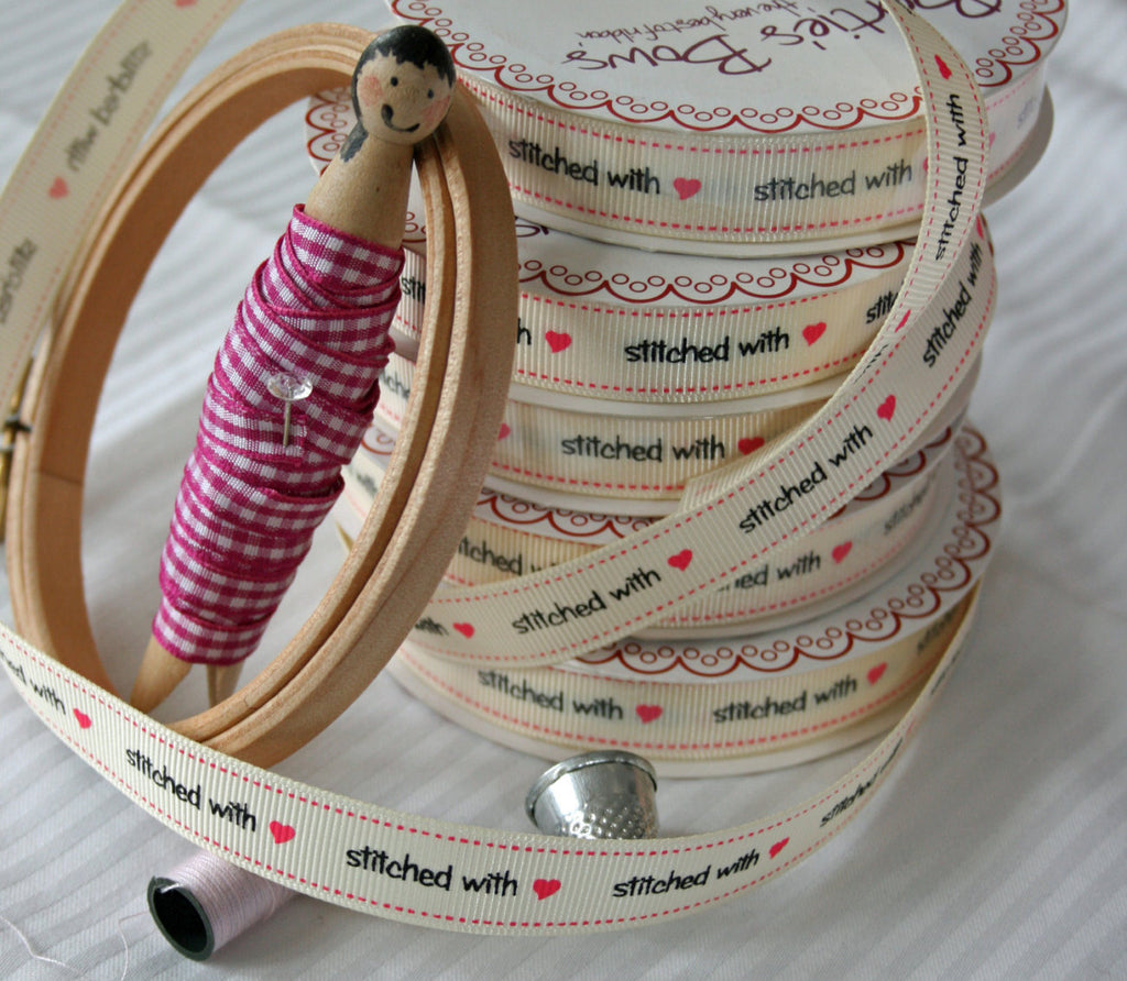 stitched with love craft ribbon collection. - StitchKits Crafts