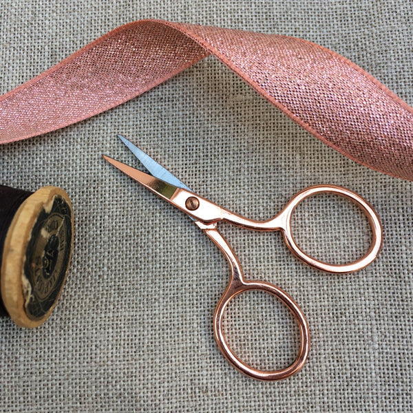 Mini Rose Gold Embroidery Scissors. 6.5 cm - StitchKits Crafts