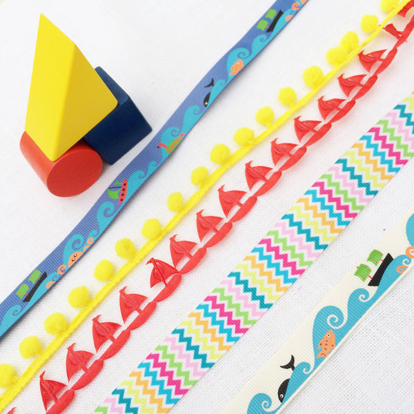 ocean wave ribbon collection - StitchKits Crafts