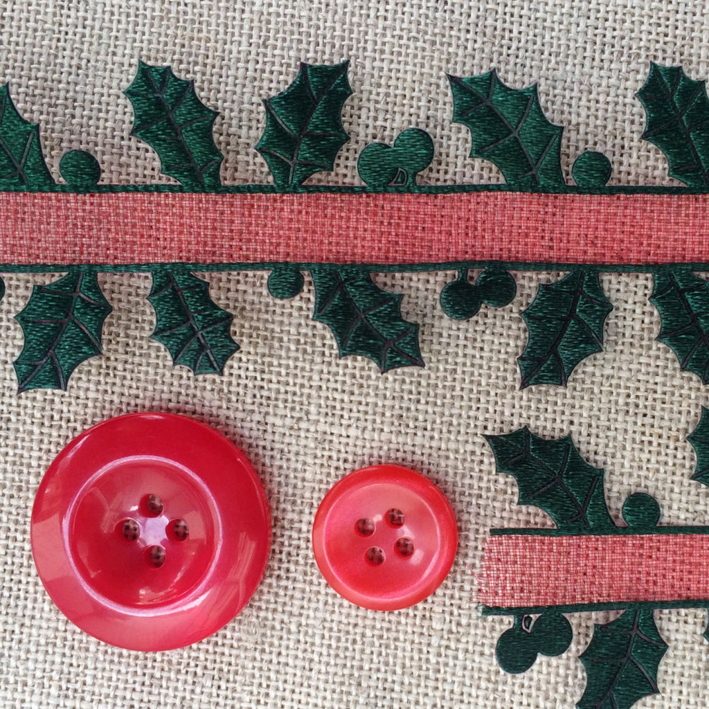 Holly Ribbon with Sheer Centre - StitchKits Crafts