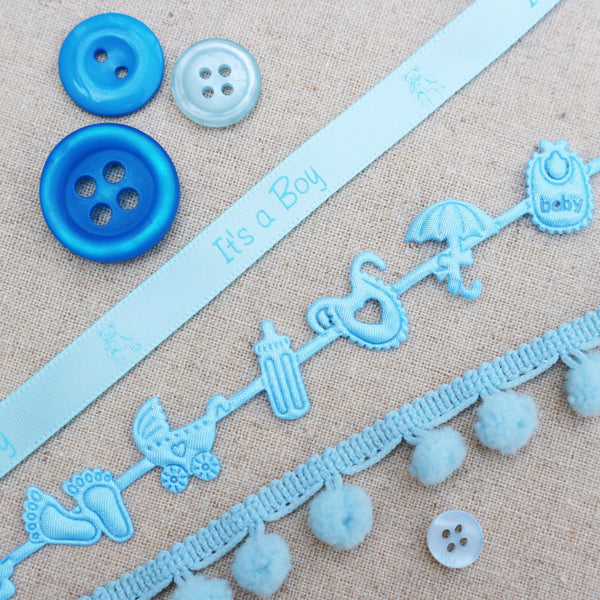 Blue Baby Ribbon Collection - StitchKits Crafts