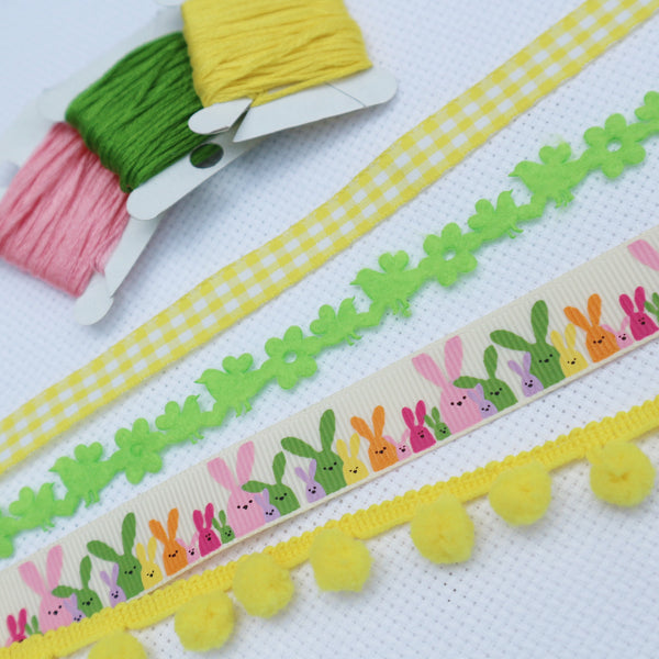Easter Rabbit Ribbon Collection - StitchKits Crafts