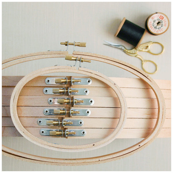 Large Oval Horizontal Embroidery Hoop. 8 x 12 inch - StitchKits Crafts