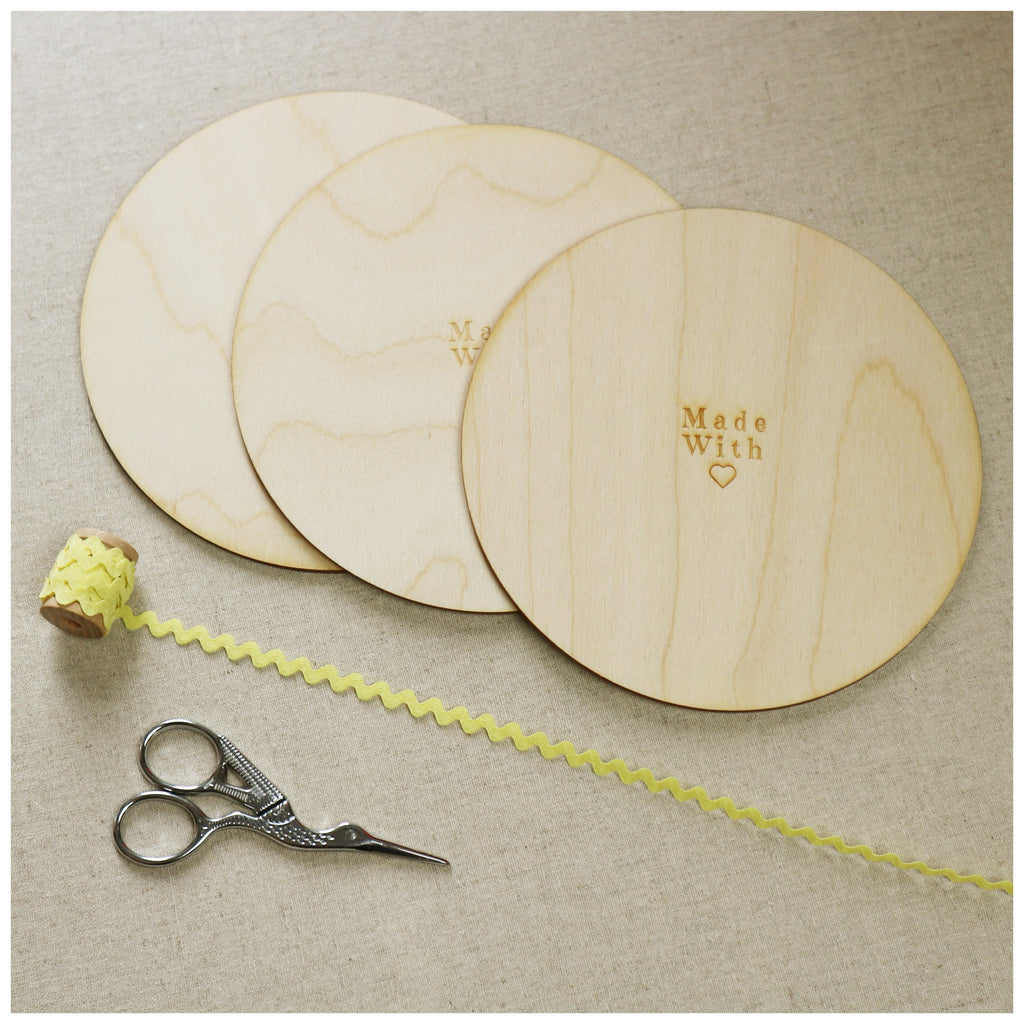 6 inch Wooden Backs - StitchKits Crafts