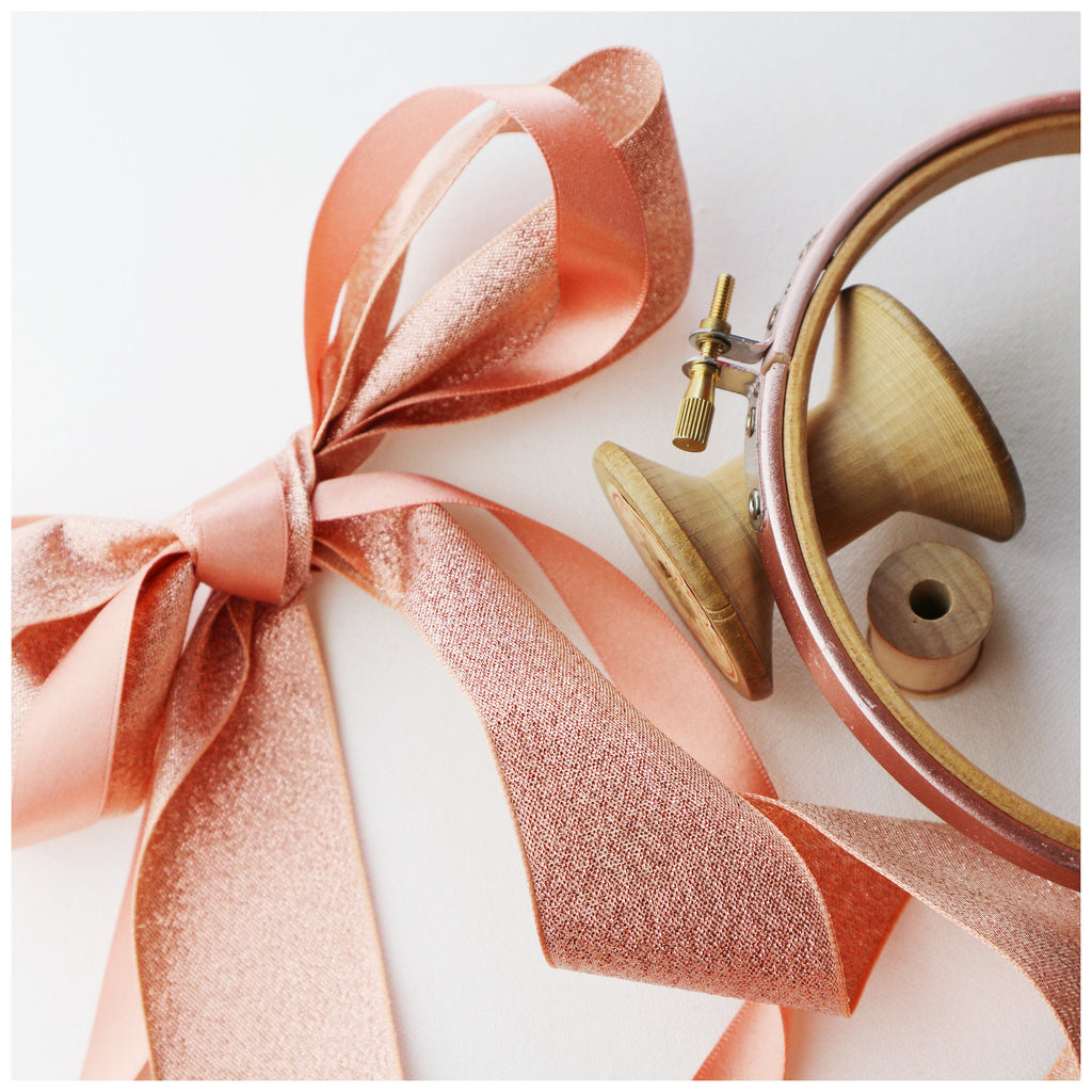 Metallic Rose Gold Painted Embroidery Hoops - StitchKits Crafts