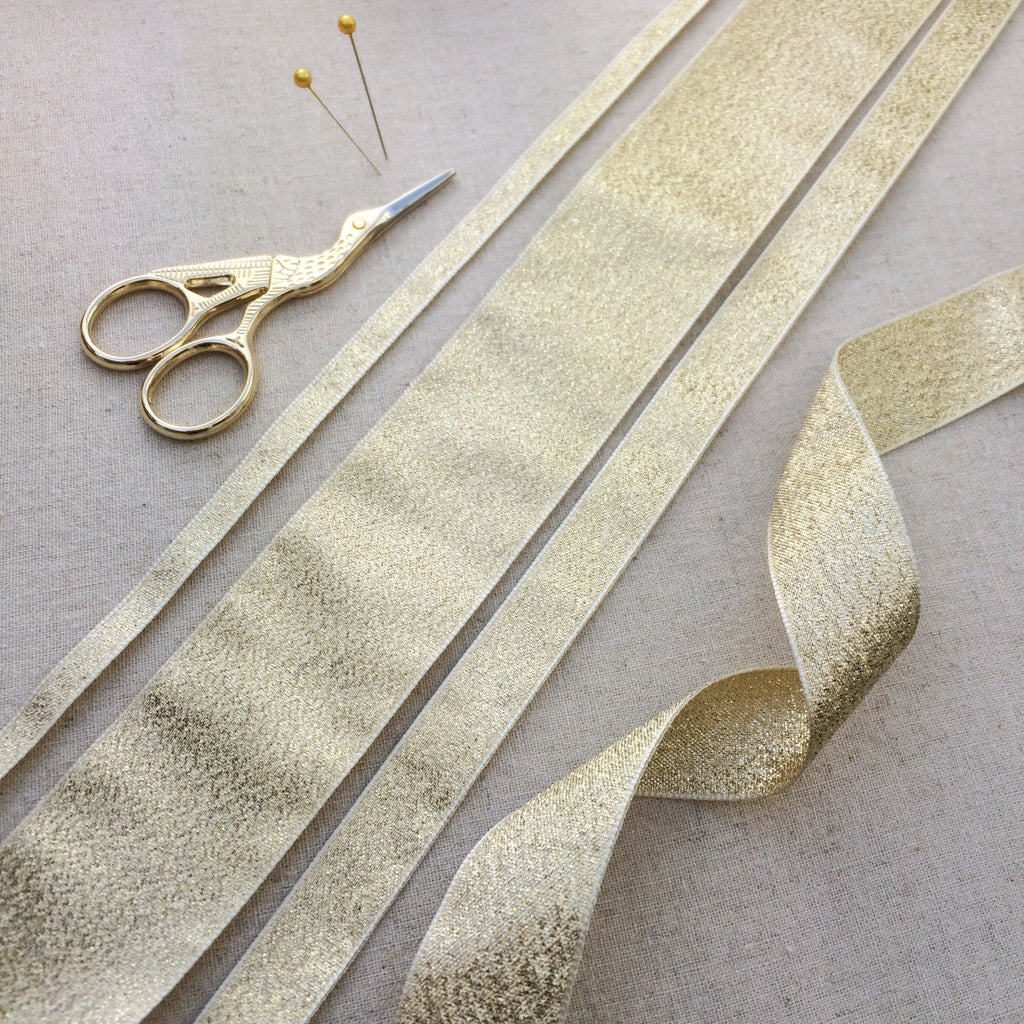 Pale Gold Lame Ribbon Collection - StitchKits Crafts