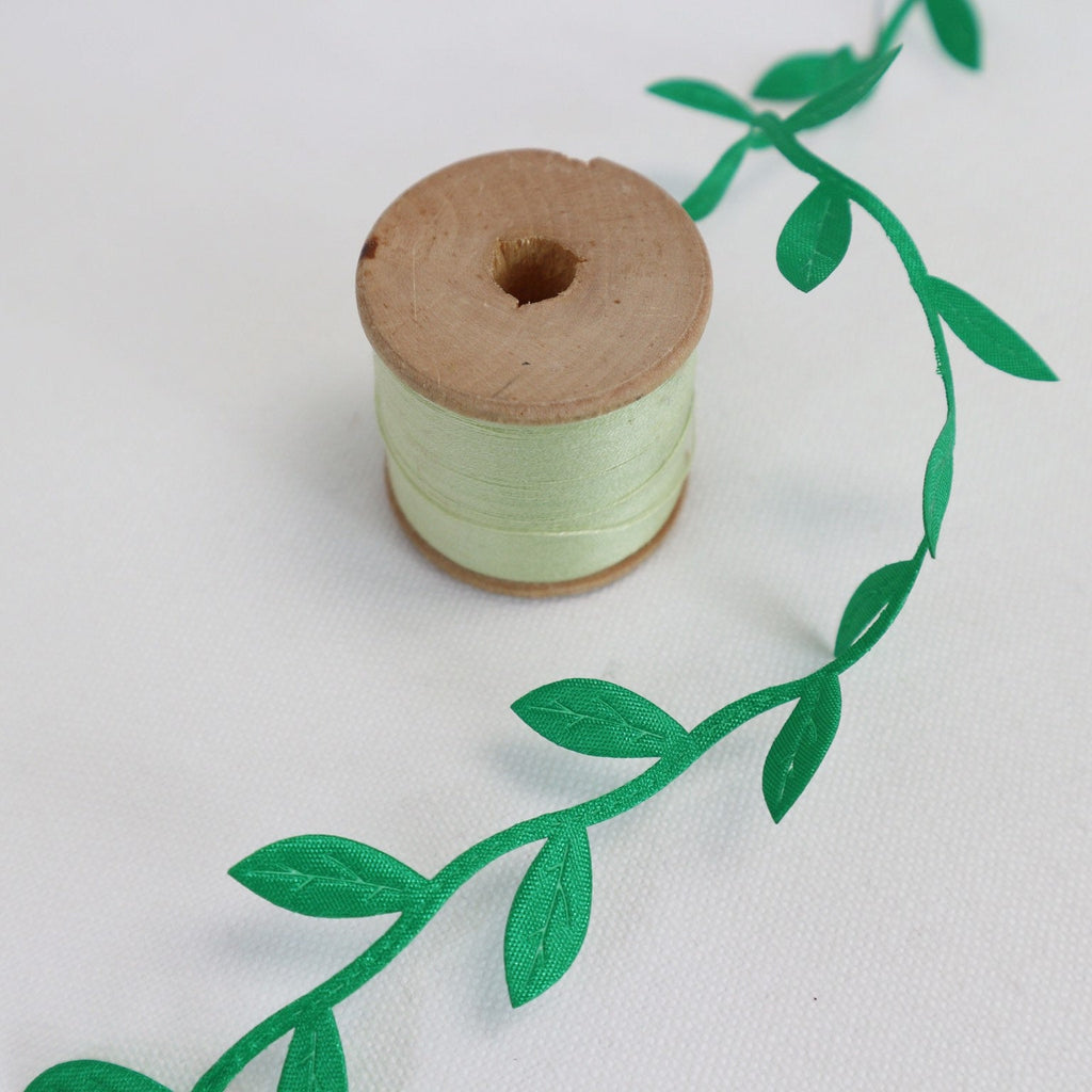 Green Vine Leaf Ribbon Collection - StitchKits Crafts