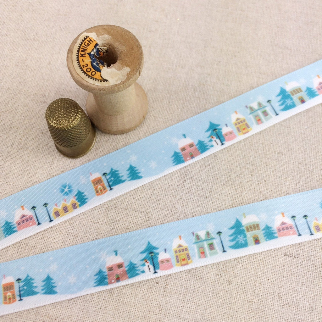 Snowy Day Village Ribbon Collection - StitchKits Crafts