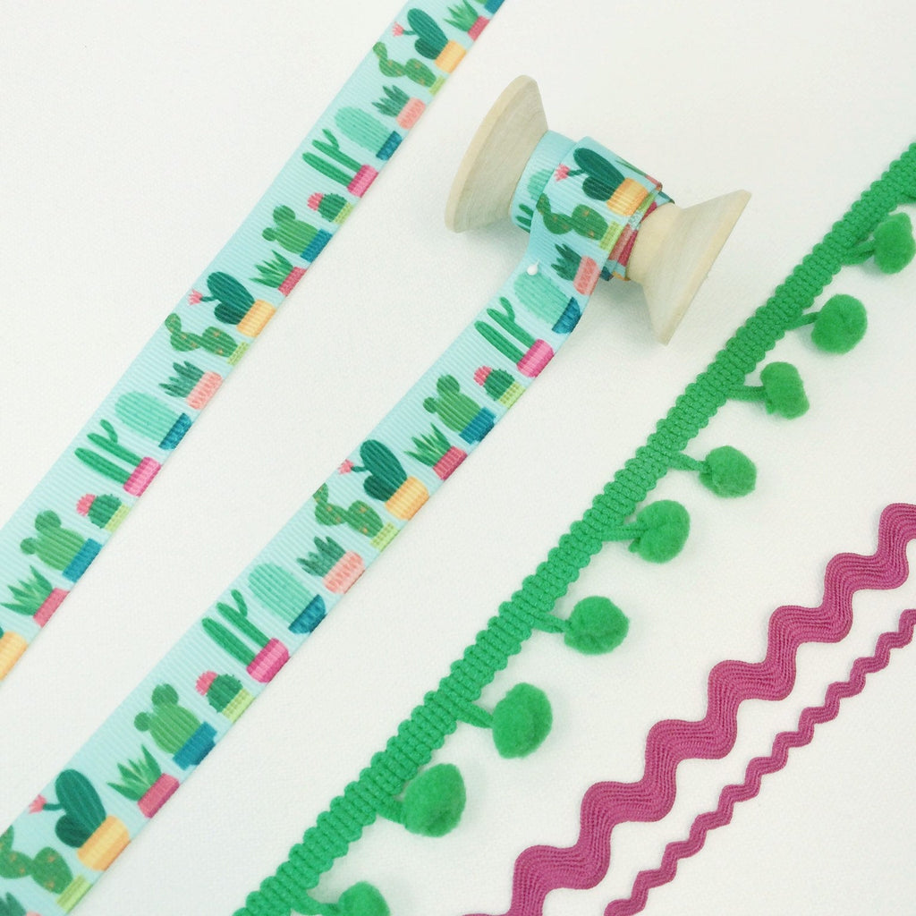 Tropical Cactus Ribbon Collection - StitchKits Crafts