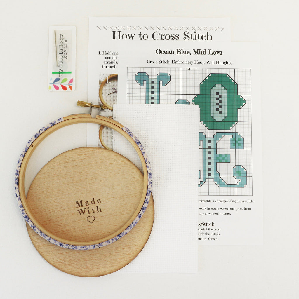 Call Me Cross Stitch Hoop Kit - StitchKits Crafts