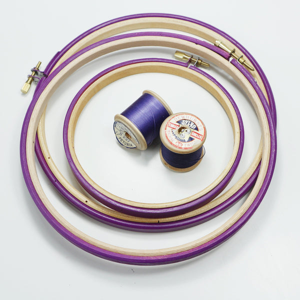 Purple Plum Painted Embroidery hoops - StitchKits Crafts