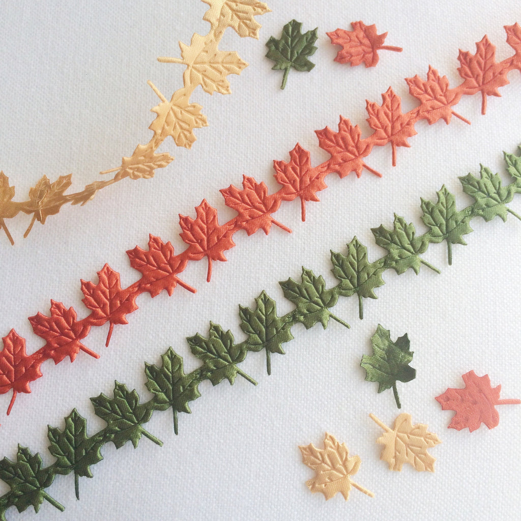 Maple Leaf Ribbon - StitchKits Crafts
