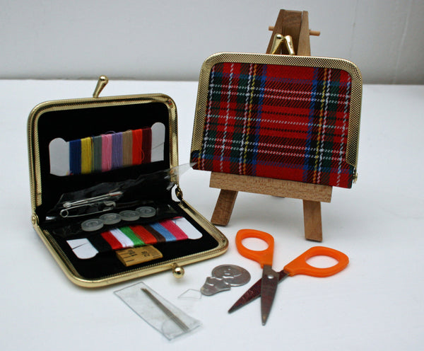 Tartan, Travel Sewing Kit - StitchKits Crafts