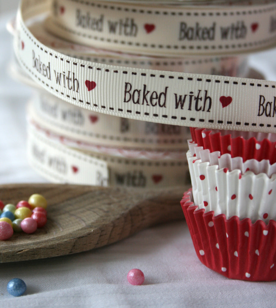 Baked with love ribbon - StitchKits Crafts