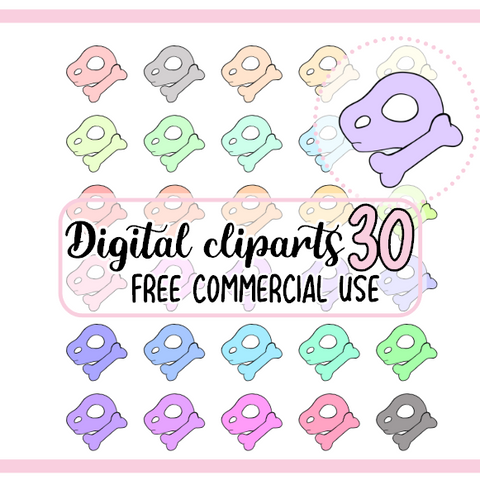 30 Os animal crossing Clipart Digital à colorier