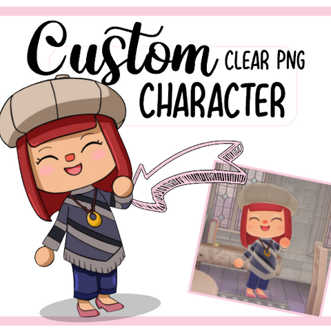 24h Livraison EXPRESS : TON personnage Animal crossing Clipart Digital